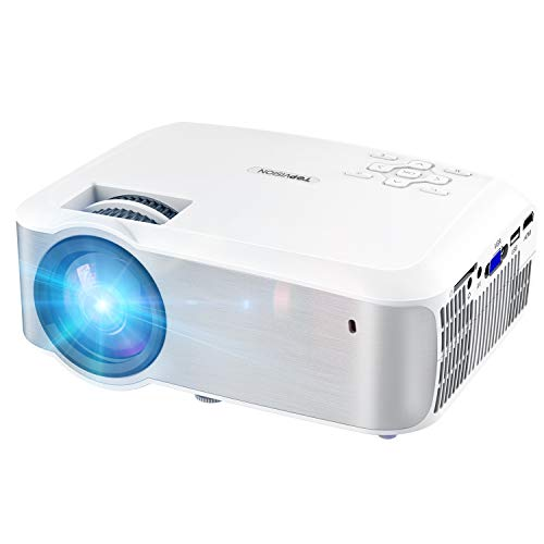 Video Projector, TOPVISION 1080P Supported Ugpraded LED Projector with 4200Lux,...