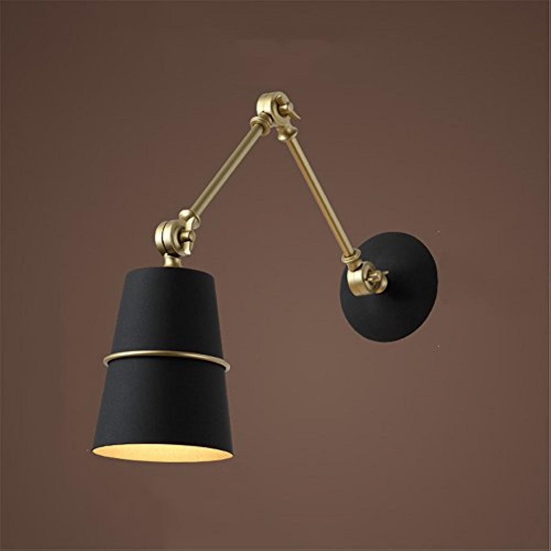StiefelU LED Wandleuchte nach oben und unten Wandleuchten Verstellbare Wandleuchten, Schlafzimmer ist Leiter des Korridors Wandleuchten, schwarz, Bügeleisen (Glühbirne)