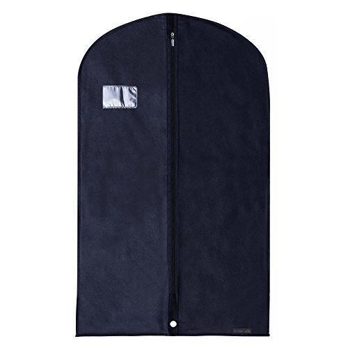Hangerworld Sac à vêtements, aéré, Non tissé, 100 cm, Bleu foncé