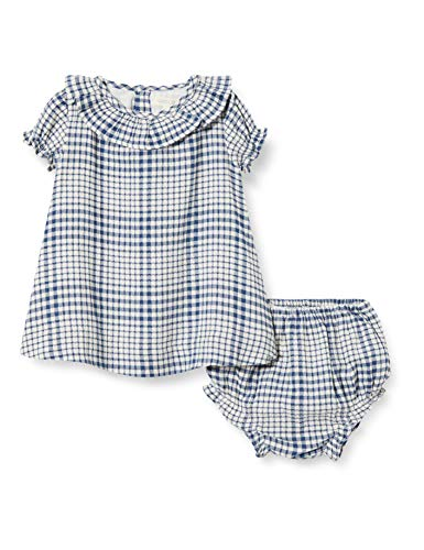 Gocco Vestido Seersuker Cuadros Azul Dress para Bebés