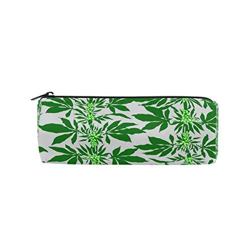 Ahomy - Estuche para lápices, diseño abstracto de marihuana con brotes