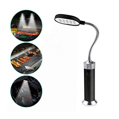 Barbecue Grill Light, Grilllicht BBQ Outdoor Super Magnetic Bright LED-Lampensockel Zum Grillen, mit 15 superhellen LED-Lichtern, 360 Grad verstellbar BBQ Light Wetterbeständige Lichter Zubehör
