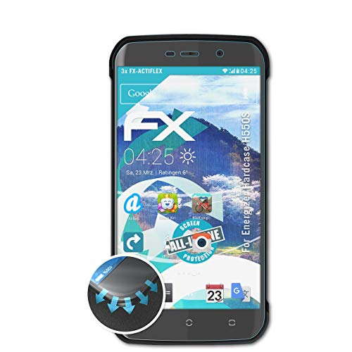 atFolix Schutzfolie kompatibel mit Energizer Hardcase H550S Folie, ultraklare & Flexible FX Bildschirmschutzfolie (3X)