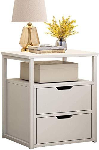 File cabinets Nachttisch, Nachttisch, Schlafzimmer, Haushalt, Spind, einfaches Arbeitszimmer, doppeltes Pumpen, Badezimmer, Flur, Wohnzimmer, 40 x 34 x 50 cm, Beistelltisch (Farbe: Weiß)