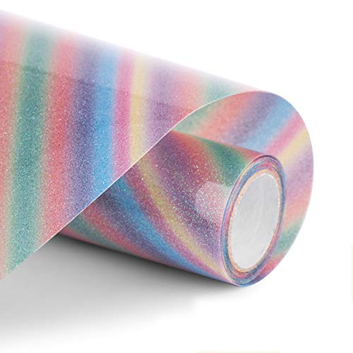 50% off Rainbow Glitter HTV Vinyl Use Promo Code: 83AQVTT6  Works on select options with no quantity limit 2