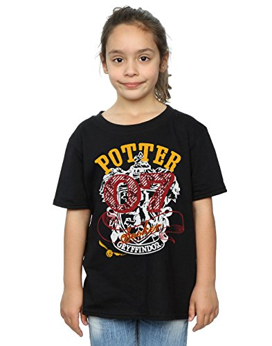 HARRY POTTER niñas Gryffindor Seeker Camiseta 12-13 Years Negro