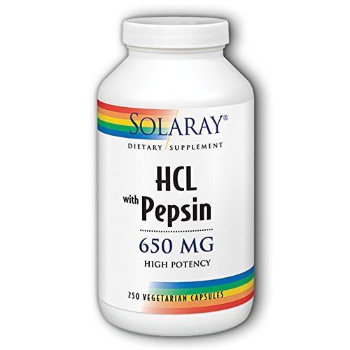 HCl w/Pepsin High Potency 650mg Caps 250