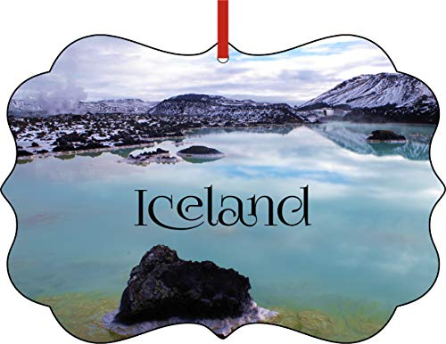 Jacks Outlet Christmas Ornaments Travel Blue Lagoon Typography Iceland Ornament Christmas Décor