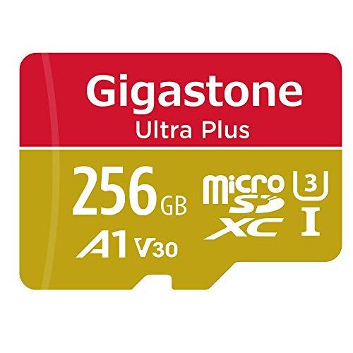 Gigastone Tarjeta de memòria Micro SDXC de 256GB, Grabación de 4K vídeo, Alta Velocidad de 4K UHD (UHS-I A1, Clase 10, V30, Adaptador Gratuito) Adecuado para Cámara Digital etc.