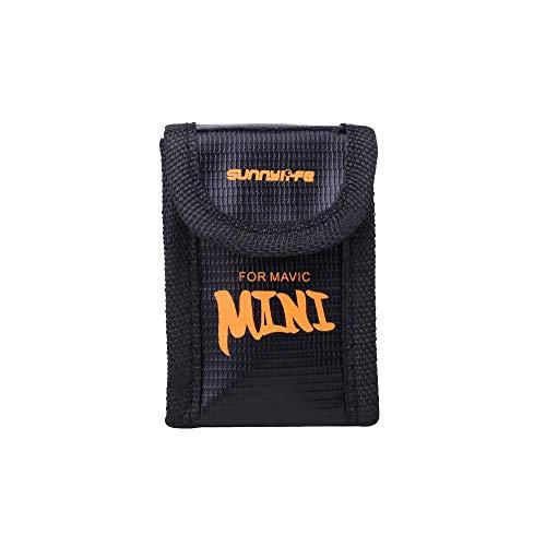 RC GearPro Explosionproof Brandwerende Batterij Veilige Tas Draagbare Buidelzak LiPo Batterij Tas voor DJI Mavic Mini Drone, Small, For 1 Battery