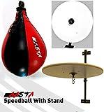 Pera blanca, boxeo bola de la velocidad soporte colores surtidos multicolor rojo/negro