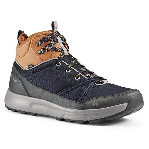 Quechua Men's Waterproof High Top Country Walking Shoes - NH150 WP Mid (UK 7 - EU 41)