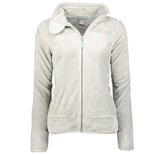 Geographical Norway UPALINE Lady - Suave Cálido Mujeres - Chaqueta Calida Invierno Suave Mujeres Caliente - Pullover Casual Tops Mangas Largas - Manga Larga Suéter Piel Gris Claro S