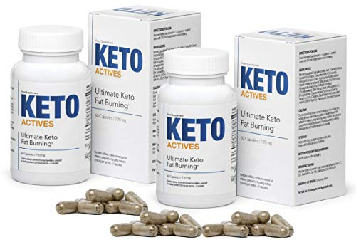 KETO ACTIVES Premium - The Best Diet Supplement for Weight Control, 100% Natural Ingredients, Enormous Fat Burning, removes Body Fat on The Waist, Hips and Legs, 120 Capsules
