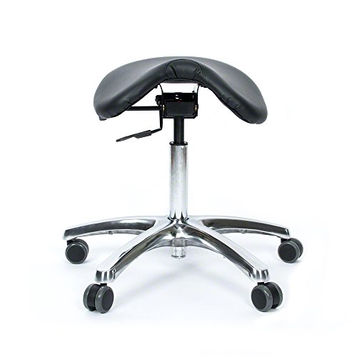 Jobri BetterPosture Saddle Chair –Multifunctional Ergonomic Back Posture Stool with Tilting Seat – Reduce Pressure on Lower Back and Improve Posture While Sitting