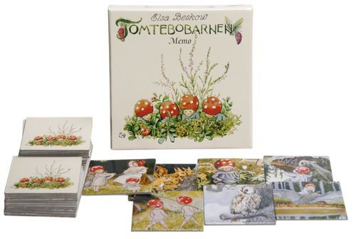 Hjelms Elsa Beskow Tomtebobarnen or Children of The Forest Memory Game (32 Cards - 16 Sets) for 2-6 Players