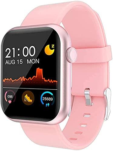 GPWDSN Reloj Inteligente Pulsera Presión Arterial Fitness Tracker Pantalla Color Impermeable Hombres Mujeres Deporte Adroid Reloj
