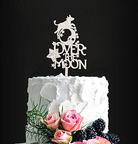 Nursery Rhythms Cake Topper, Cow Jumped Over The Moon Cake Topper, Birthday, Engagement, Wedding, Anniversary and All Special Events Party Supplies, Congratulations Party Decoration