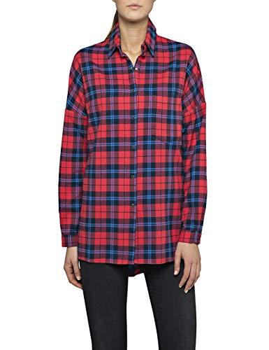 REPLAY W2266a.000.52166 Blusa, Multicolor (Blue/Red/Azule 10), Medium para Mujer