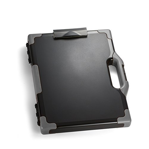 Officemate OIC Carry All Clipboard Storage Box, Letter/Legal Size, Black and Gray (83324)