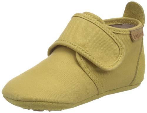 Bisgaard Unisex-Baby Cotton First Walker Shoe, Mustard, 24