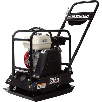 NorthStar Single-Direction Plate Compactor -with 5.5HP Honda GX160 Engine
