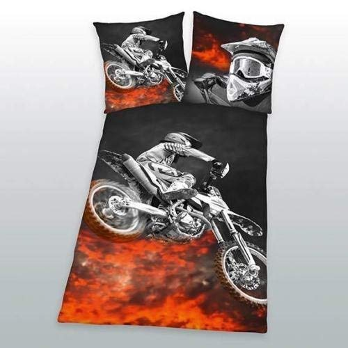 Klaus Herding GmbH Bettwäsche Motorcross Speedway Motorrad Biker Zipper 135x200 cm Geschenk NEU Wow - All-In-One-Outlet-24 -