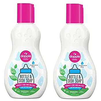 dapple 3 oz Pure  N  Clean Bottles and Dishes Dishwashing Liquid in Fragrance-Free   pack 2