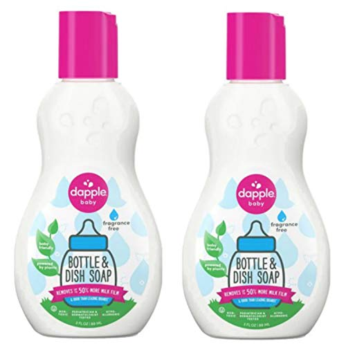 dapple 3 oz. Pure 'N' Clean Bottles and Dishes Dishwashing Liquid in Fragrance-Free ( pack 2)