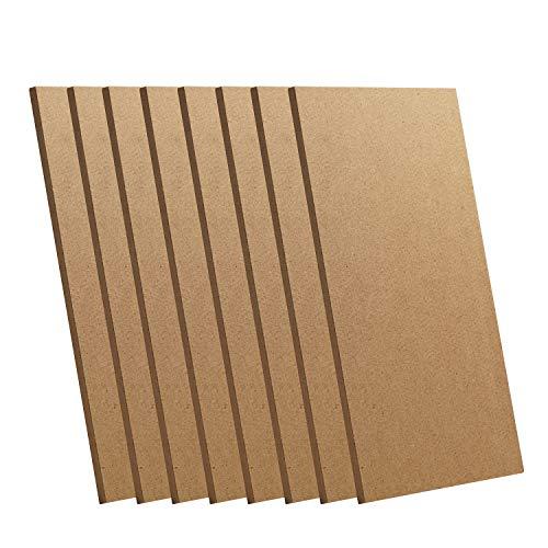 Genmitsu CNC Materials Medium Density Fiberboard, 8Pcs 1/5 x 7 x 4 Inches MDF Board, Ideal for CNC, Laser Cutting, Wood Burning, Arts & DIY Crafts