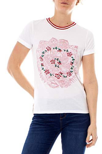 Desigual T-Shirt Donna TS Mandala Coca-Cola 19SWTK61 s Bianco