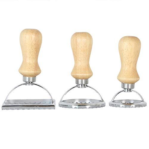 Geschirr Haushalts Wonton Messerset Pasta Press Küchenzubehörsatz Wonton Maschine-Form-Werkzeug Wonton Set Pastry Wheel Set-Kuchen-Form (Color : Round Mold 9.6x5cm)