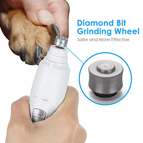 URPOWER Upgraded Pet Nail Grinder, Electric Dog Nail Grinder Gentle for Paws...