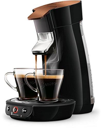 Philips Senseo Viva Café HD6569/90 Kaffeepadmaschine (Crema plus, Kaffee-Stärkeeinstellung) kupfer/schwarz