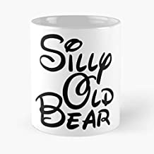 Silly Old Bear 3 Classic Mug - The Funny Coffee Mugs For Halloween, Holiday, Christmas Party Decoration 11 Ounce White Inkedatty.