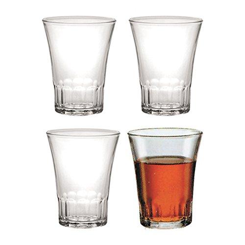 DURALEX Set 4 Bicchiere Modello Amalfi Vintage per Bar Vino liquore osteria Cantina (13cl)