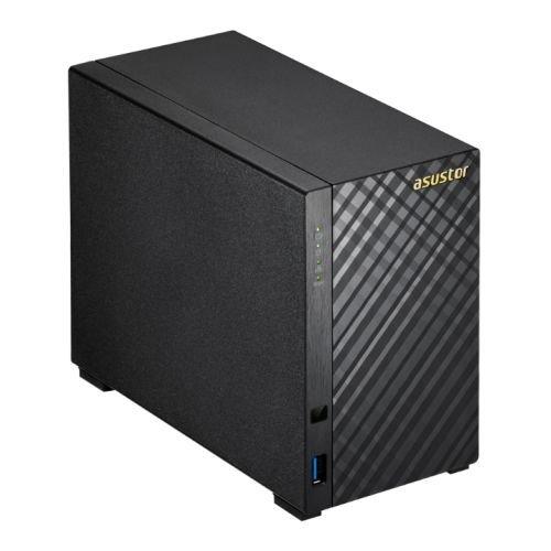 Asustor AS3102T 2-Bay NAS System (Intel Celeron, 2GB RAM, Gigabit-LAN, HDMI 1.4b, Raid 0, 1, JBOD) schwarz