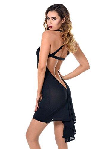 Patrice Catanzaro Damen Minikleid 703502T14 Jessy Größe S, M, L, XL, XXL schwarz, Farbe:Schwarz, Größe:L