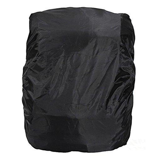 nuolux pliable Camping Randonnée Étanche Anti-poussière universel de voyage sac à dos sac à dos Housse de pluie Protection d'écran 15l-35l (Noir)