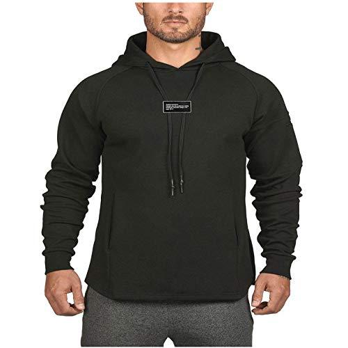 HOSD físico, Hombre, Capucha de Camisa Entrenamiento con para Suéter Tablero Larga, Chaqueta, Manga Ligero