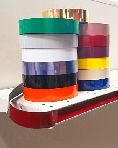Decorative Gondola Shelving Vinyl Insert for Ticket Channel 130 FT. x 1.25 in. - Red