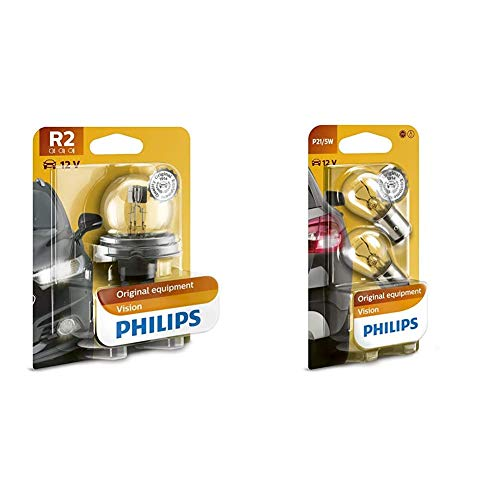 Philips automotive lighting 12620B1 Bombilla + 12499B2 Vision - Bombilla P21/5W para indicadores (2 unidades)