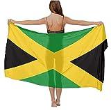 womens Swimwear Cover up Beach Sarong Wrap Jamaican Flag Scarf