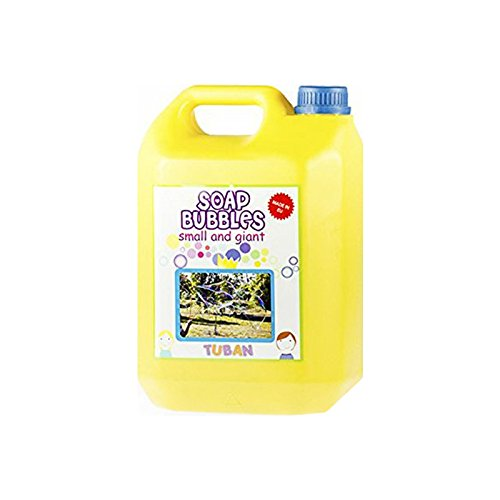 Tuban 5 litros de jabon para Hacer pompas, Megaburbujas.Solucion Profesional. Ideal por Burbujas Gigantes. Producto Certificado