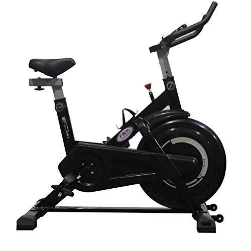 ECO BIKE | F & H Fitness | Bicicleta spinning para iniciación | asiento ajustable, unisex, transmisión por correa | resistencia por fricción