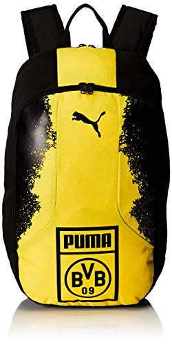 Puma BVB Fan Wear Backpack Mochila, Color Puma Black-Cyber Yellow, tamaño UA