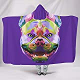weipengda-Fashion Shoes Colorful French Bulldog Smooth Colorless Wearable Blankets Make People Sleep Well for Couch Sofa Bed in Winter Warm Style White 60x80 inch