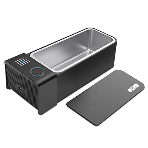 Uten Ultrasonic Cleaner - 600ml Low Noise Wash Machine for Cleaning Eyeglasses, Jewelry, Watches, Razors, Dentures Combs (Black)