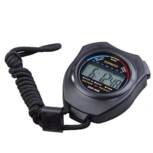 Correr Cronómetro Digital de Mano Profesional LCD de Gran tamaño cronógrafo Aire Libre Deportes Cronómetro Cronómetro Mance