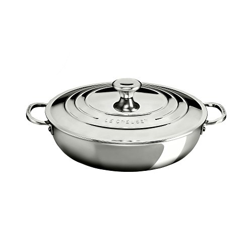 Le CreusetSSP8100-30 Tri-Ply Stainless Steel Braiser with Lid, 5-Quart